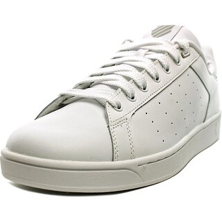 K-Swiss Clean Court Men  Round Toe Leather White Tennis Shoe