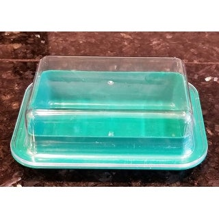 Large Double-Wide Two-Stick Butter Serving Storage Dish with Lid - Random Color