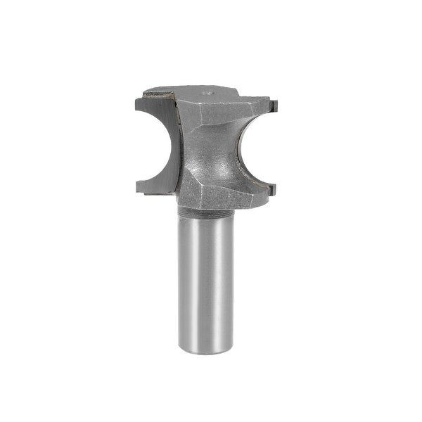 Router Bit 1/2 Shank 5/8 inch Dia Half Round End Mill, 2 Flute Bull Nose
