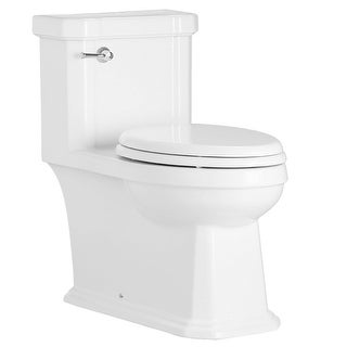 Mirabelle MIRAM241S  Amberley 1.28 GPF One-Piece Elongated ADA Height Toilet with Slow-Close Seat and Cover - White