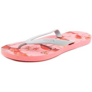 Tidal Flamingo Women  Open Toe Synthetic Gray Flip Flop Sandal