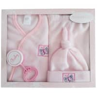 Bambini 4 Piece Fleece Set - Pink - Size - Newborn - Girl