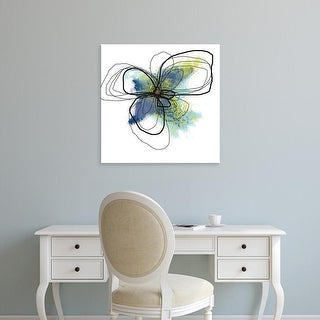Easy Art Prints Jan Weiss's 'Azure Petals II' Premium Canvas Art