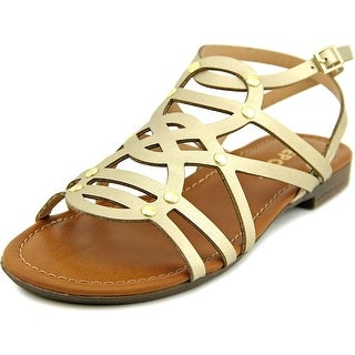 Report Gamma Women Open Toe Synthetic Gold Gladiator Sandal