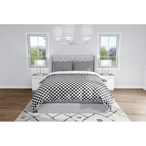 CHECKER BOARD BLACK & WHITE Duvet Cover By Kavka Designs
