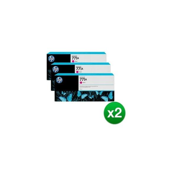 HP 771A 3-Cartridges 775-ml Magenta DesignJet Ink Cartridges (B6Y41A) (2-Pack)