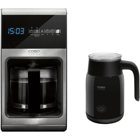Caso Design Coffee One 10-Cup Filter Coffee Maker plus Fomini High-Speed Hand Milk Frother