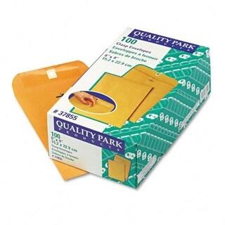 Quality Park 37855 Clasp Envelope 6 x 9 28lb Light Brown 100/box