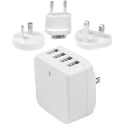 Startech Travel Usb Wall Charger – 4 Port – White – Universal Travel Adapter – International Power Adapter – Usb Cha