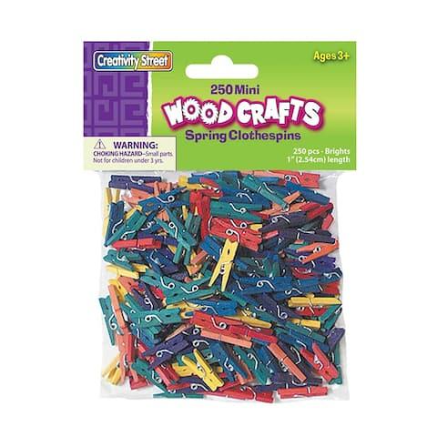 Mini Spring Clothespins Bright Hues