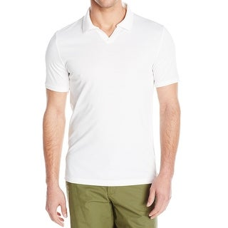 Vince Camuto NEW White Mens XL Short-Sleeve Polo Johnny Collar Shirt