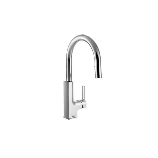 Moen S72308E STo Metal Touchless Conceald Pulldown Spray High-Arc Kitchen  Faucet with Swivel Spout, MotionSense, and Reflex
