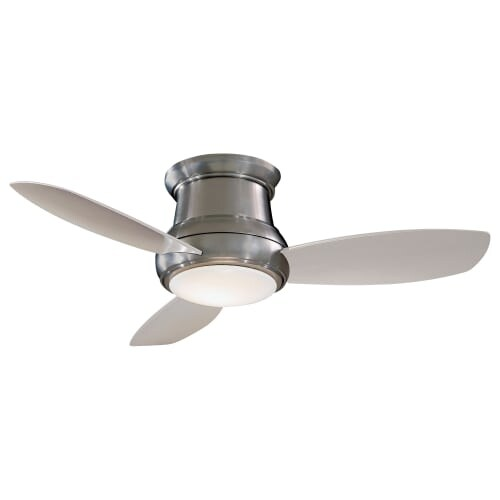 "MinkaAire Concept II 44 LED 3 Blade 44"" Concept II LED Flushmount Ceiling Fan - Integrated Light, Handheld Remote Control and"