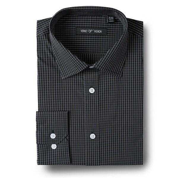 Men's Slim-Fit Performance Stretch Striped Dress Shirt. Opens flyout.