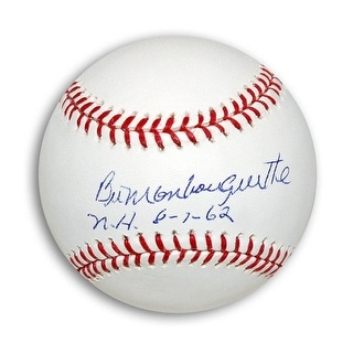 """Bill Monbouquette Autographed MLB Baseball Inscribed """"NH 8-7-62"""""""