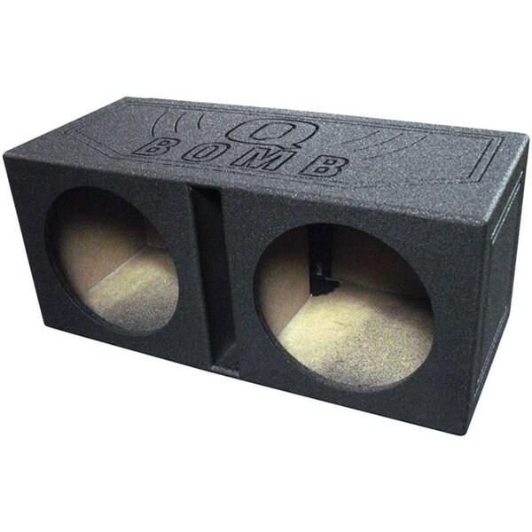 """Qpower QBOMB Dual 10"""" Woofer Box Ported"""