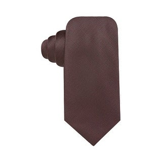 Countess Mara Hand Made Pique Solid Classic Necktie Brown