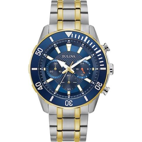 Bulova Mens 98A246 Two-tone Stainless Chrono Bracelet Watch