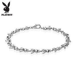 Playboy Bunny Gemmed Link Bracelet (10 mm) - 7.25 in