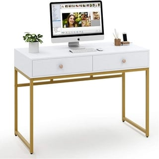 Link to 47-inch Computer Desk Writing Desk with 2 Drawers Similar Items in Desks & Computer Tables