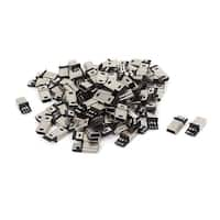 Unique Bargains 80 Pcs Mini USB 5Pin Type B Male Plug Connector PCB Mounting Socket Adapter