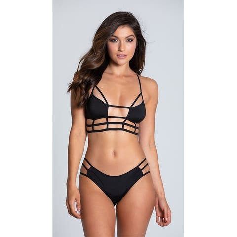 Cage Me in Bra and Panty Set, Strappy Bra and Panty Set