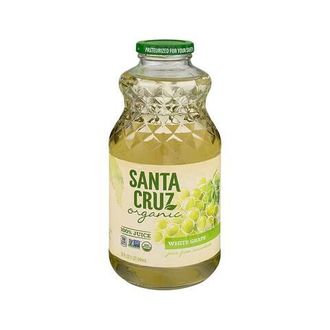 Santa Cruz Organic Juice - White Grape - Case of 12 - 32 Fl oz.