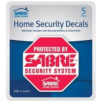 Sabre HS-SD Home Security Decals, Plastic, Red