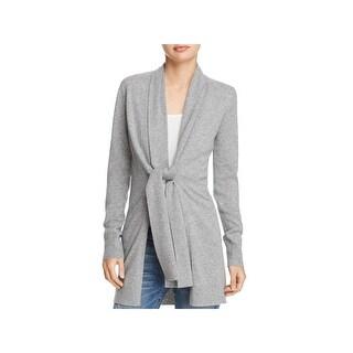 Theory Womens Cardigan Sweater Scarf Trim Cashmere
