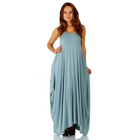 ffc39aa4572 Simply Ravishing Women s Maxi Boho Harem Spaghetti Strap Dress (Size  Small  ...