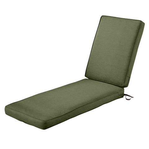 Classic Accessories Montlake Water-Resistant 74 x 23 x 3 Inch Patio Chaise Lounge Cushion