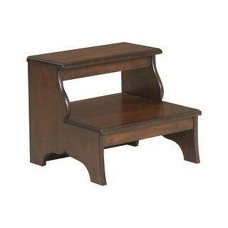 Offex Transitional Solid Hardwood Step Stool - Brown
