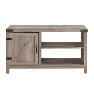 """Delacora WE-BD44BD1D  44"""" Wide Two Shelf Laminate and Metal Accent Cabinet"""