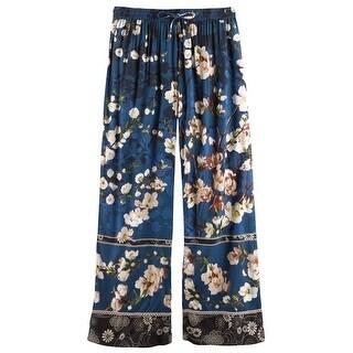 Women's Blossom Lounge Pants - Elastic Waist Band and Side Pockets