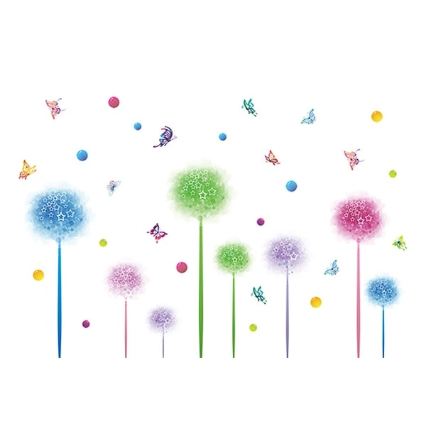 Home Office PVC Flower Butterfly Print Window Film Protector Wall Decal Sticker Wallpaper