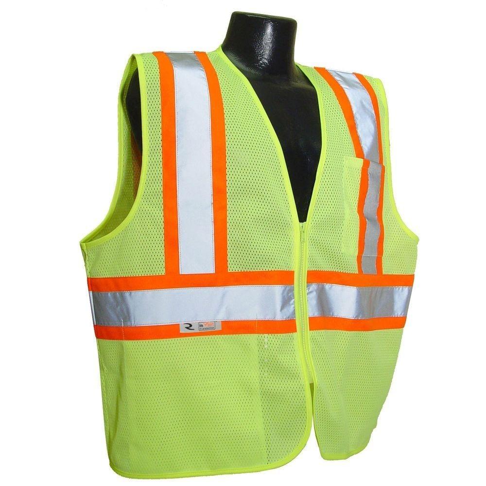 Radians SV22-2ZGM-2X Economy Class 2 Safety Vest With Two-Tone Trim, 2X
