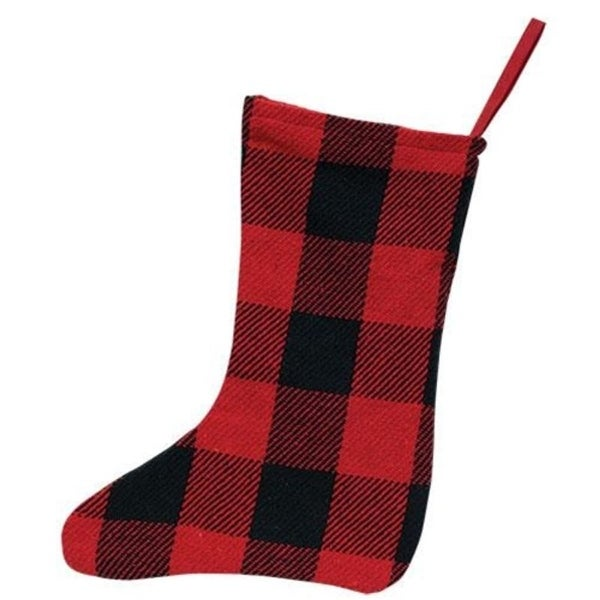 Red & Black Buffalo Check Stocking