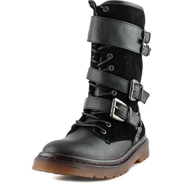 Penny Loves Kenny Alee III Women Round Toe Synthetic Black Mid Calf Boot