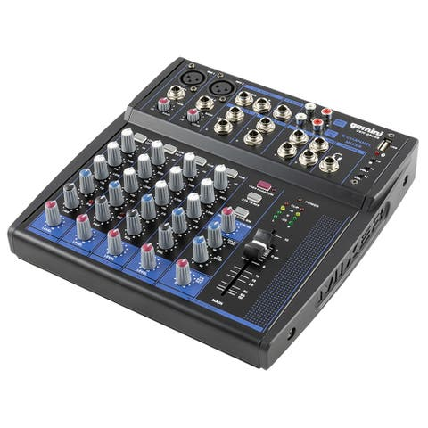 Gemini compact 8-channel Bluetooth mixer with USB playback
