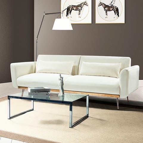 Cartier Upholstered Sofa with Golden leg