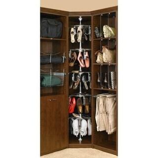 Rev-A-Shelf CLSZ-W5-96-1 5 Shelf Women's Lazy Shoe-Zen Organizer with Closet Shaft - CHROME