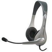 Cyber Acoustics AC201 Speech Recognition Stereo Headset and Boom Mic