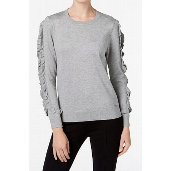ba003ea4d031 Shop Calvin Klein Womens Large Ruffle-Trim Crewneck Sweater - Free Shipping  On Orders Over  45 - Overstock.com - 27005525