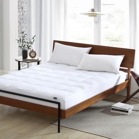 Smithsonian Sleep Collection Cooling High-loft Mattress Pad - White