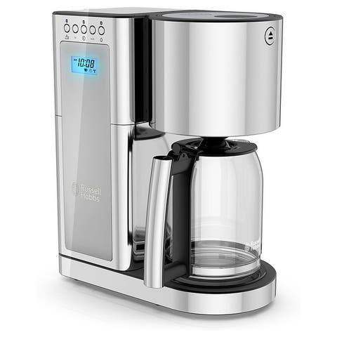 Russell Hobbs Glass Coffeemaker with 8 Cup Capacity- Silver