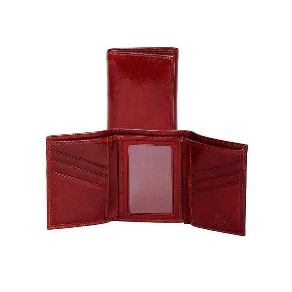 Scully Western Wallet Italian Leather Tri-Fold ID Window - One size