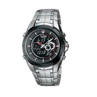 Casio Efa119bk-1Av 9.5'Ana-Digi Edifice Stainless Steel Watch - Silver