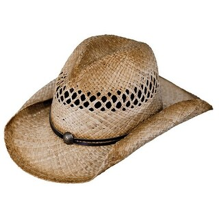 Outback Trading Hat Womens Eureka Straw Lattice Classic Natural 1575
