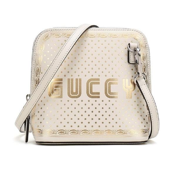 Gucci GUCCY Sega Script Leather Cross
