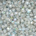 True2 Czech Fire Polished Glass, Faceted Round 2mm, 50 Pieces, Crystal Blue Rainbow - Thumbnail 0